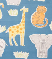 "Alexander Henry Cotton Fabric 44""-Bongo Jungle Blue, , hi-res"