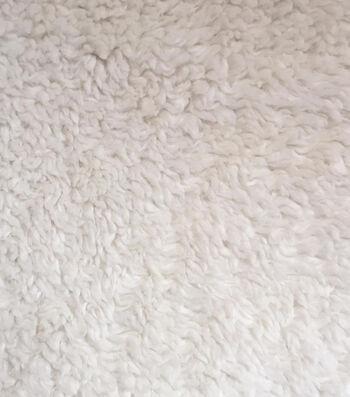 "Luxury Faux Fur Sherpa Fabric 58""-Ivory"