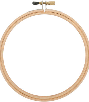 Frank A. Edmunds 6'' Wood Embroidery Hoop with Round Edges-Natural