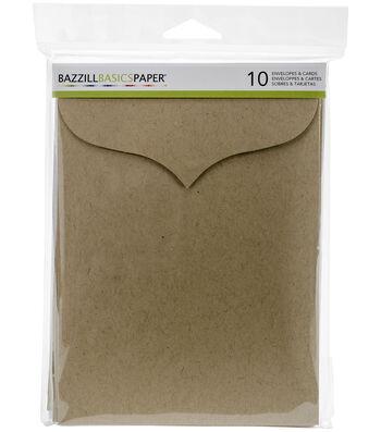 """Bazzill Basics Paper™ 10pcs 5""""x7"""" Scallop Cards & Envelopes"""