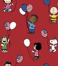 Patriotic Cotton Fabric 43\u0022-Snoopy & Friends