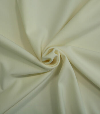 "Silky Solid Stretch Crepe Fabric 58""-Ivory"