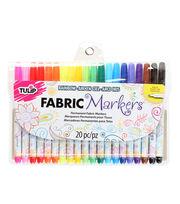 Tulip® Fabric Markers 20 PK Multi Fine, , hi-res
