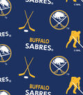 Buffalo Sabres Fleece Fabric 60\u0022-Tossed