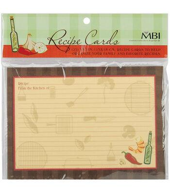 5''x7'' Family Recipse 3-Ring Scrapbook Kit Refills-25PK