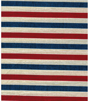"Patriotic Cotton Fabric 43""-Textured Stripe"
