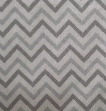 Snuggle Flannel Fabric 42''-Gray Chevron
