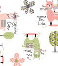 Anti-Pill Fleece Fabric 59\u0022-Cheerful Llamas