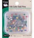 Dritz 1.25\u0022 Steel Colorball Pins 100pcs Size 20