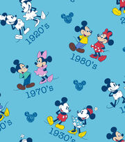 "Disney® Mickey & Minnie Mouse Cotton Fabric 43""-Vintage Toss, , hi-res"