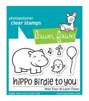 "Lawn Fawn Clear Stamps 3""X2""-Year Four, , hi-res"