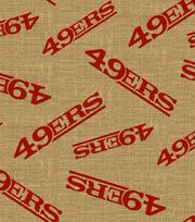 "San Francisco 49ers Burlap Fabric 47""-Logo, , hi-res"