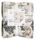 No Sew Fleece Throw 72\u0022-Taupe Scroll