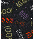 Halloween Cotton Fabric 43\u0022-Boo On Black Glitter