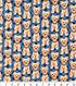 Novelty Cotton Fabric 43\u0022-Dog On Blue Plaid