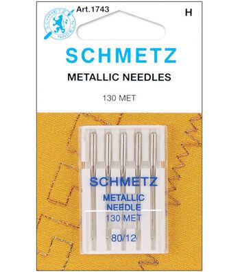 Schmetz Metallic Machine Needles 5pcs Size 80/12