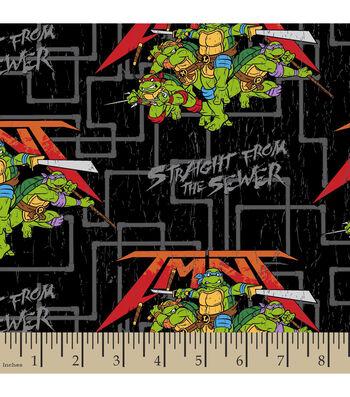 "Teenage Mutant Ninja Cotton Fabric 43""-Straight from the Sewer"
