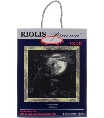"""Full Moon Counted Cross Stitch Kit-19""""X19"""" 14 Count"""