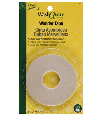 Dritz Quilting 0.25 inch Wide x 25Yds Wash Away Wonder Tape