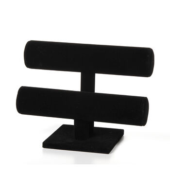 Black Velvet 2-Tier Bracelet Stand, 7 inches