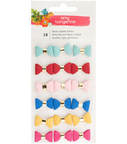 Amy Tan Hustle & Heart Mini Faux Suede Bows 18/Pkg-, , hi-res