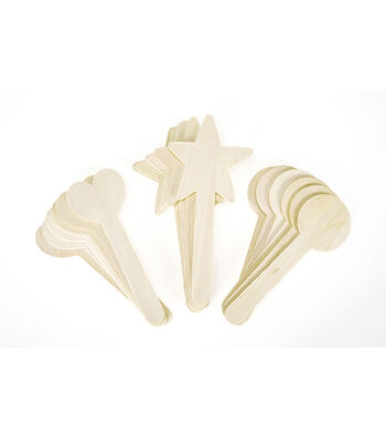 Busy Kids Learning Wood Topper Sticks-Assorted Shapes