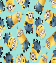 Minions Toss Blue Cotton Fabric, , hi-res