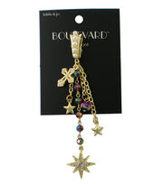 hildie & jo™ Boulevard 5'' Gold Charm Pendant-Iridescent Beads, , hi-res