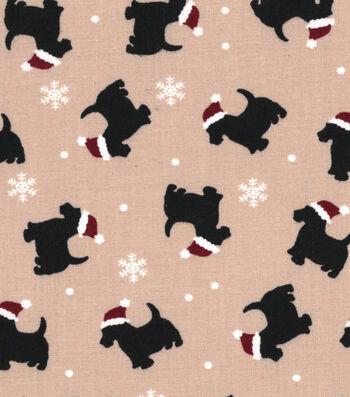 """Holiday Showcase™ Christmas Cotton Fabric 43""""-Dog"""