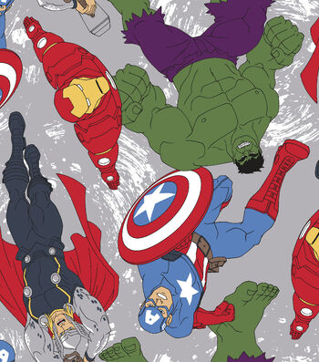 "Marvel Comics™ Fleece Fabric 59""-Avengers Toss"