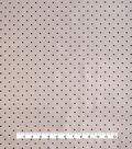 Anti-Static Lining Fabric 58\u0022-Black Dots