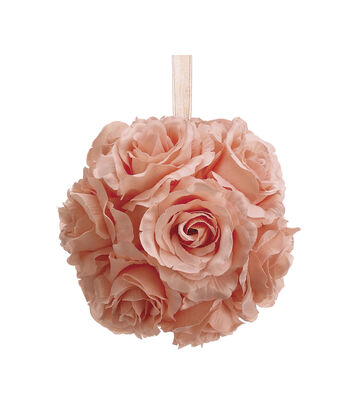 Bloom Room 6'' Rose Kissing Ball-Pink