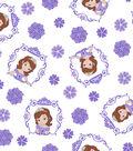 Disney Sofia the First Cotton Fabric 43\u0027\u0027-Framed