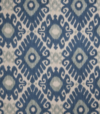 "Jaclyn Smith Upholstery Fabric 54""-Ikat Rot/Indigo"