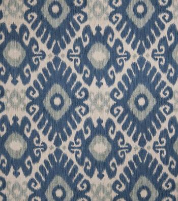 "Jaclyn Smith Multi-Purpose Decor Fabric 54""-Ikat Rot/Indigo"