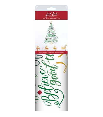 Fab Lab™ Holiday Craft Wall Decal-Christmas Tree Greetings