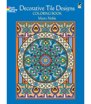 Adult Coloring Book-Dover Publications Decorative Tile Designs