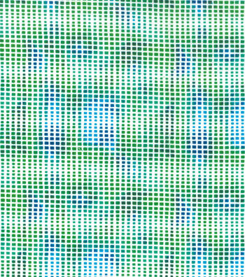 "Snuggle Flannel Print Fabric 42""-Green Blue Block Lines"