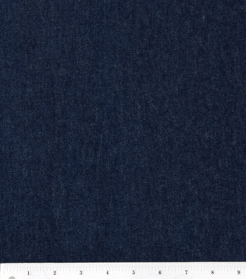 "Bottomweight 7oz Stretch Denim Fabric 51""-Black"