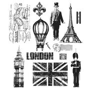 Stampers Anonymous Tim Holtz Cling Rubber Stamp Set Paris To London, , hi-res