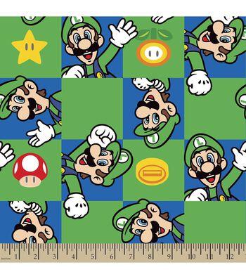 Nintendo® Luigi Character Print Fabric