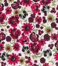 Quilter\u0027s Showcase™ Fabric 43\u0027\u0027-Raspberry & Green Small Floral