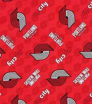 "Portland Trailblazers Cotton Fabric 44""-Logo Toss, , hi-res"