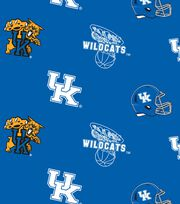 "University of Kentucky Wildcats Fleece Fabric 58""-All Over, , hi-res"