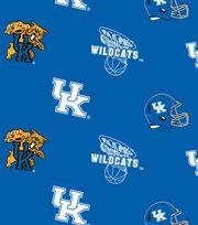"""University of Kentucky Wildcats Fleece Fabric 58""""-All Over, , hi-res"""