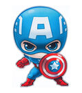 Marvel Comics Captian America Iron-On Applique