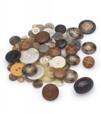 Large Cup of Craft Buttons-Assorted 12 oz