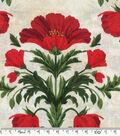 Keepsake Calico™ Cotton Fabric-Poppies On Cream Damask