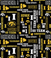 "University of Iowa Hawkeyes Cotton Fabric 44""-Glitter, , hi-res"