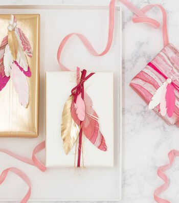 How To Make A Feather Gift Topper
